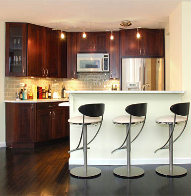 Small Space Kitchen Design on Kitchens Dark Wood Cabinets Small Kitchens Dark Cabinets
