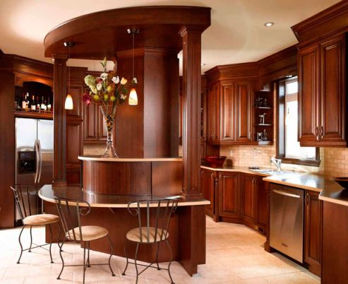 dark kitchen cabinets with light granite Dark Kitchen