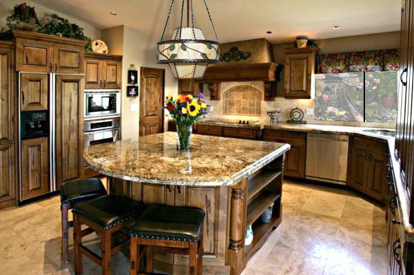 Kitchen islands with storage home trendy for Kitchen island with round seating area