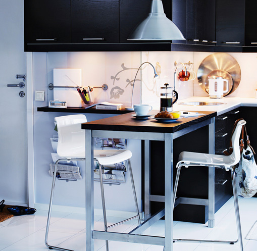 Kitchen tables for small spaces home trendy for Kitchen table sets for small spaces