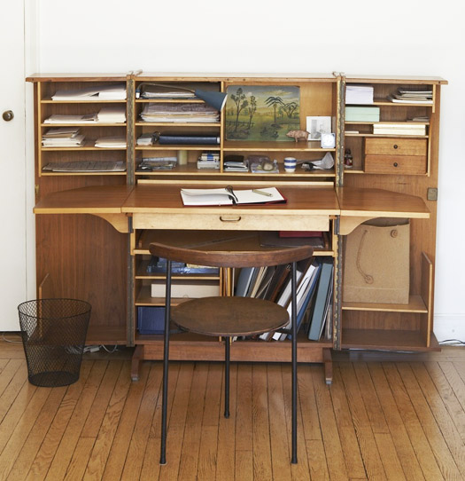 innovative wood desk and bookcase