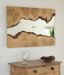 decorative wooden framed mirrors