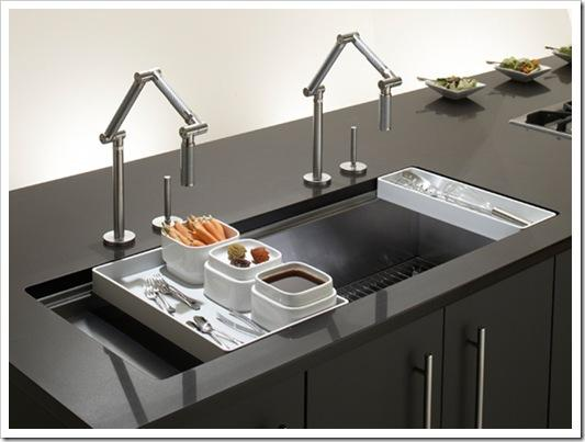 double sink sizes kitchen