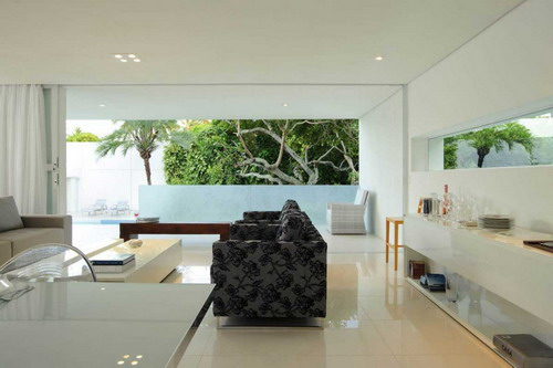 modern tropical living room