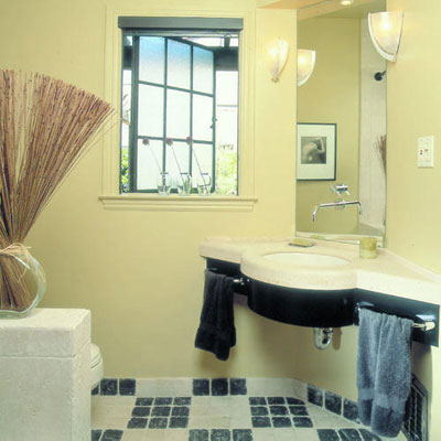 small bathroom corner sinks