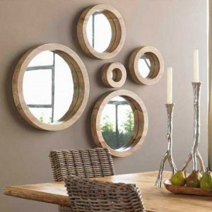 unfinished wooden framed mirrors