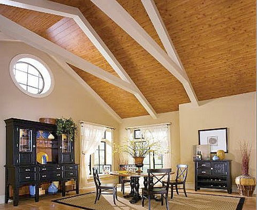 Wood ceiling design home trendy for Cathedral ceiling design ideas