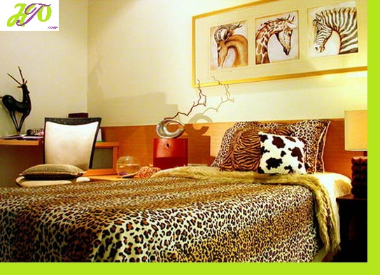 bedroom-with-tiger-blanket | Home Trendy
