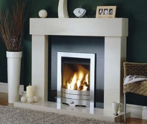 Fireplace made from marble