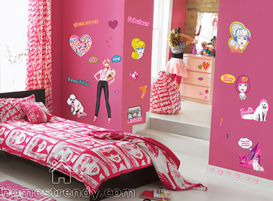 Barbie themed room
