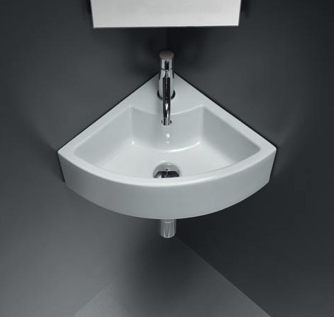 White Ceramic Corner Sink For Your Bathroom Home Trendy