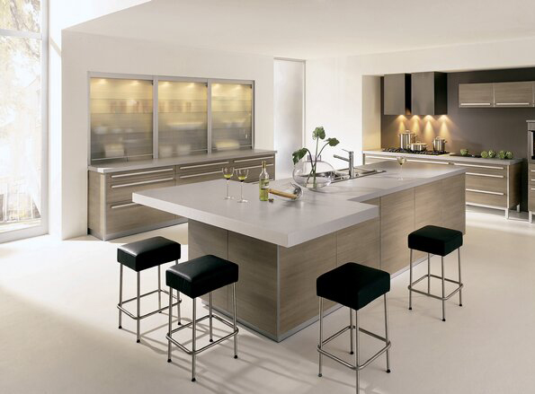 Functional and stylish kitchen islands home trendy - Stylishly modern kitchen islands additional work surface ...