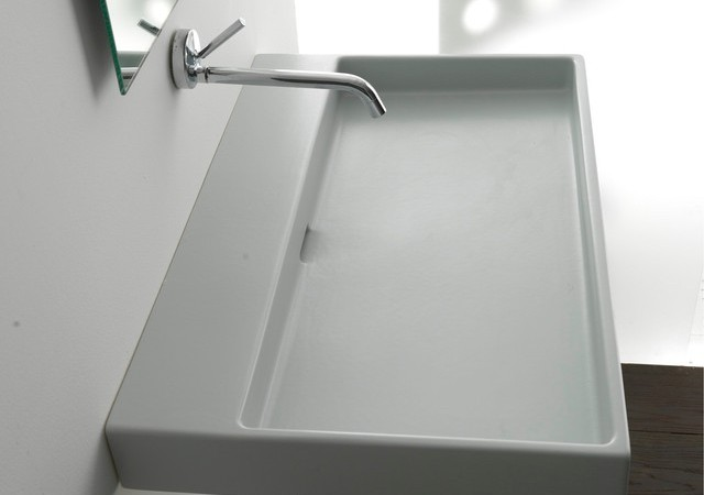 Rectangular Or Round Bathroom Sinks To Choose For Small