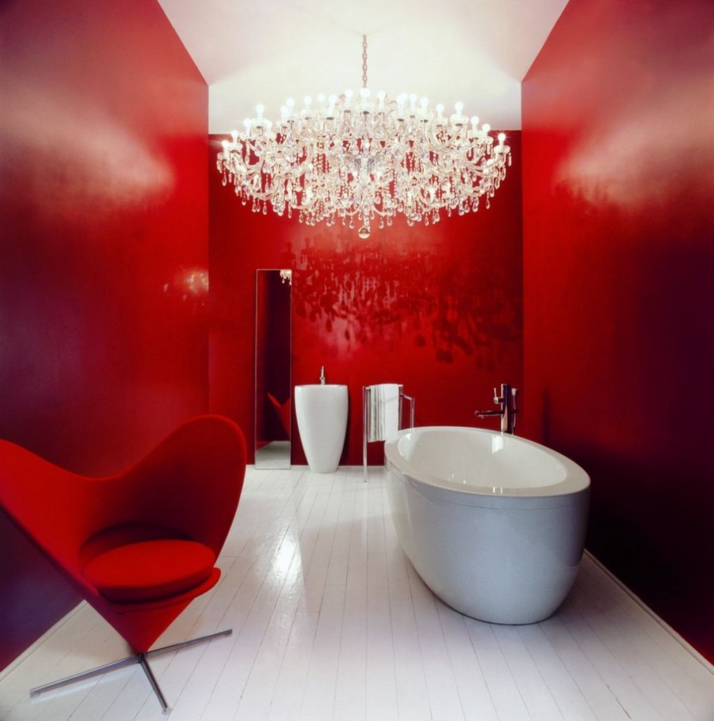red-and-white bathroom