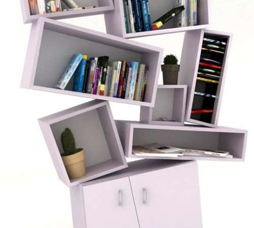 tectonic bookcase