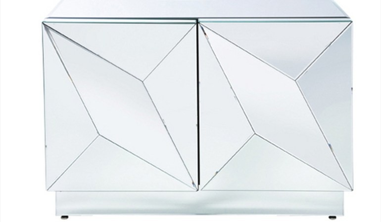 mirrored glass cabinet